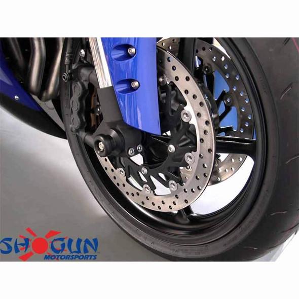 Shogun Front Axle Sliders - Black - 05-10 FZ6
