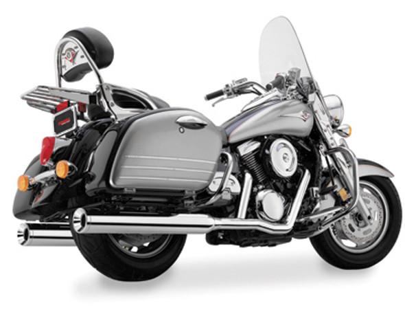 Cobra True Duals with Billet Tips Chrome Full Exhaust: 98-08 Vulcan Models