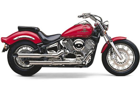"""Cobra 2-1/4"""" Slashcut Slip-On Exhaust: 99-11 V Star 1100 Models"""