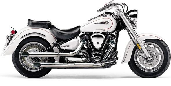 "Cobra 3-1/2"" Slashcut Slip-On Exhaust: 99-15 Road Star Models"