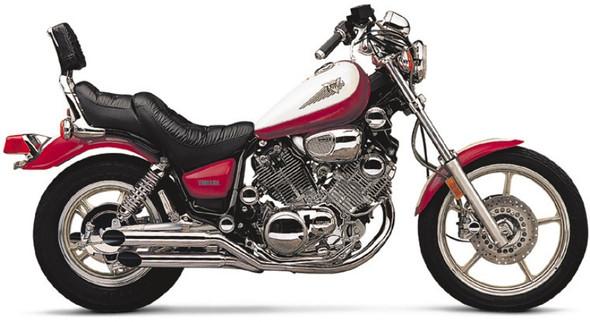 """Cobra 3-1/2"""" Slashcut Slip-On Exhaust: 84-99 Virago Models"""