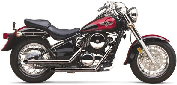 "Cobra 2"" Drag Pipes Full Exhaust: 95-05 Vulcan 800 Models"