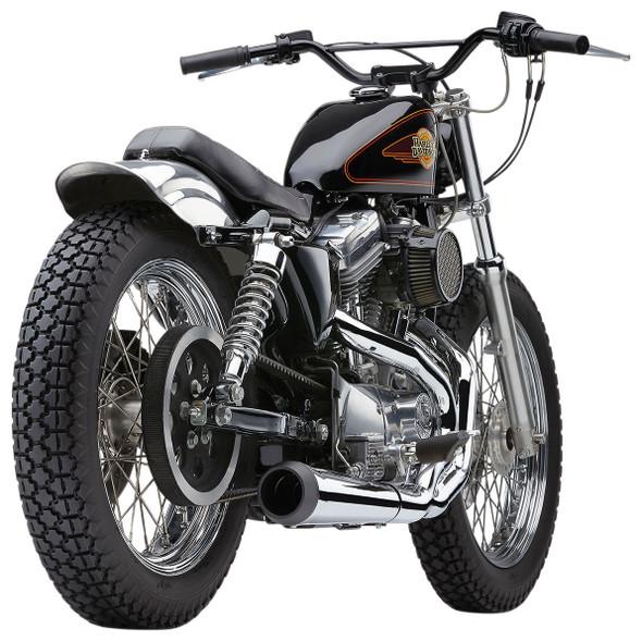 "Cobra 4"" 2-into-1 El Diablo Full Exhaust w/ Black Tip: 86-03 Sportster Models"