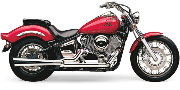 """Cobra 1-3/4"""" Power Pro 2-into-1 Full Exhaust: 99-11 V Star 1100 Models"""