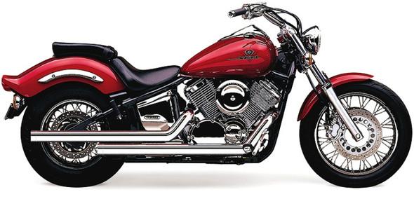 """Cobra 2-1/4"""" Dragster Full Exhaust: 99-11 V Star 1100 Models"""