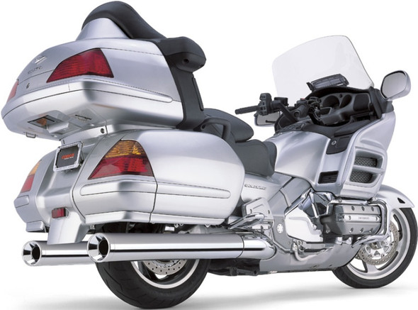 "Cobra 4"" Straight Slip-On Exhaust: 01-10 Gold Wing Models"