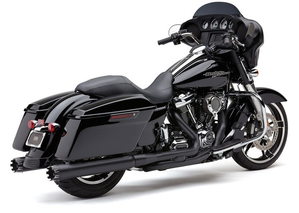 "Cobra 4"" Neighbor Hater Dual Cut Slip-On Exhaust: 2017+ Touring Models"