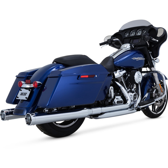 Vance & Hines Monster Rounds Slip-On Exhaust: 2017+ Touring Models