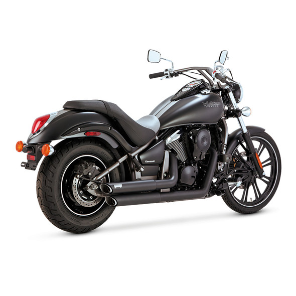 Vance & Hines Twin Slash Staggered Full Exhaust: 06-18 Vulcan 900 Models