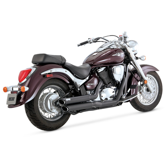 Vance & Hines Twin Slash Staggered Full Exhaust: 01-09 Boulevard Models