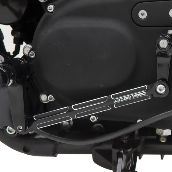 Arlen Ness Beveled Shift Rod: Twin-Cam Models - Black