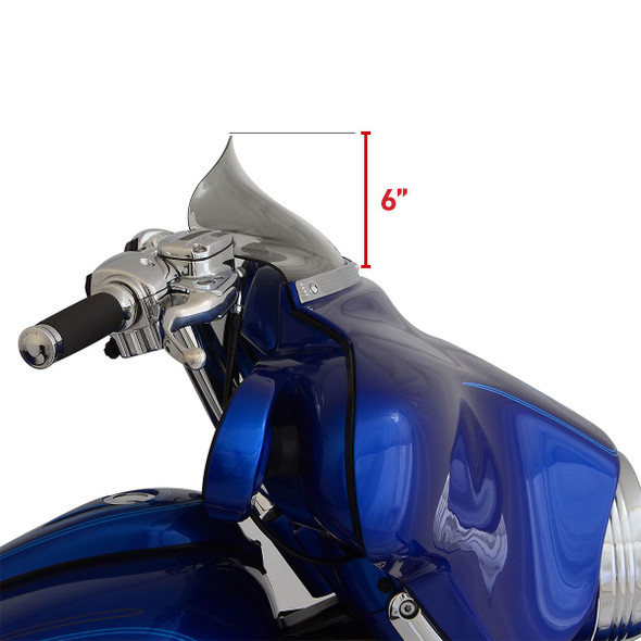 Klock Werks Flare Windshield: 96-13 HD Touring & Trike Models