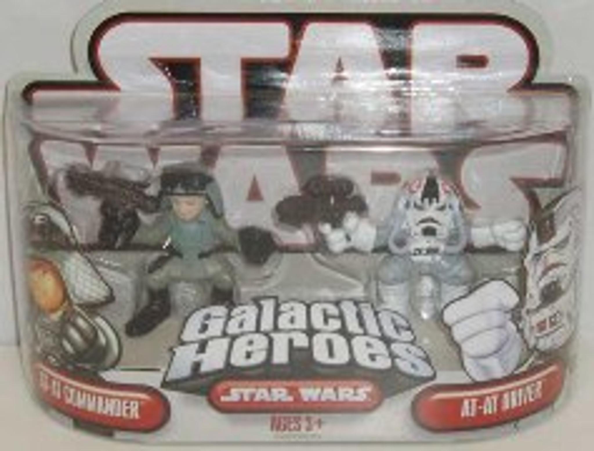 STAR WARS GALACTIC HEROES AT-AT COMMANDER /& AT-AT DRIVER