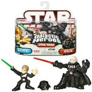 """STAR WARS GALACTIC HEROS """"LUKE SKYWALKER AND DARTH VADER"""""""