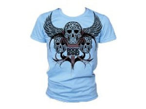 "ROCK BAND ""FLYING SKULLS"" T-SHIRT Juniors Small"
