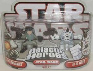 """STAR WARS """"GALACTIC HEROS AT-AT COMMANDER AND AT-AT- DRIVER"""""""