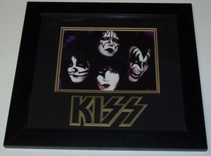 "KISS ""FACES"" Framed, Matted, and Embossed 13x15 Picture"