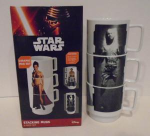 Star Wars Stacking mug set Han Solo Slave Leia and Lando