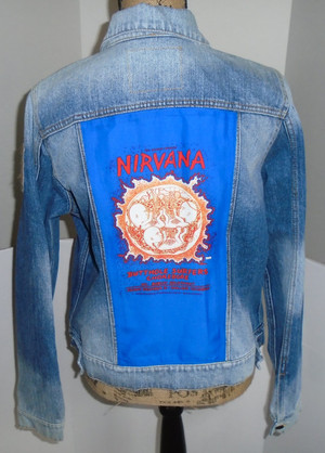WOLFGANG'S DESIGNS BY DRAGONFLY DENIM JACKET NIRVANA WOMENS