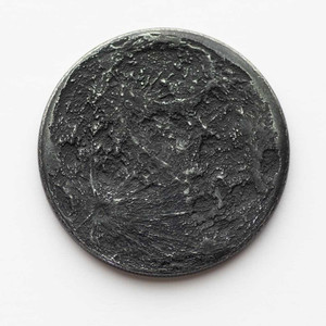 Black Iron Large Super New Moon Coin - 1.5""