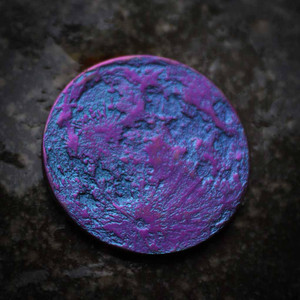 "Blurple Moon Coin - 1"" Realistic Two Tone Blue and Purple Niobium Lunar Token"