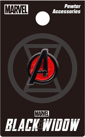 Black Widow Avengers Logo Color Pewter Lapel Pin