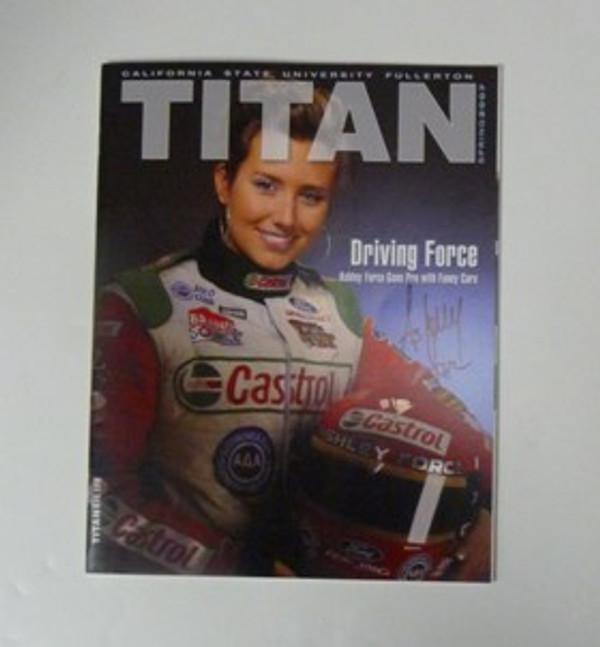"ASHLEY FORCE ""AUTOGRAPHED TITAN MAGAZINE"" John Force Racing"