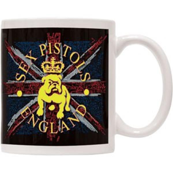 "SEX PISTOLS ""BULLDOG LOGO ENGLAND FLAG"" COFFEE MUG"
