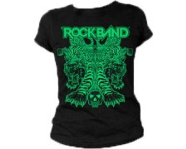 "ROCK BAND ""GREEN TIGERS"" T-SHIRT Juniors Small"