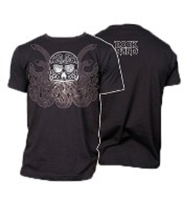 "ROCK BAND ""OCTO SKULL"" T-shirt Large"