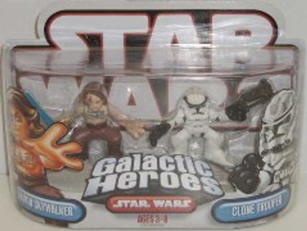 """STAR WARS """"GALACTIC HEROS ANAKIN SKYWALKER AND CLONE TROOPER"""""""