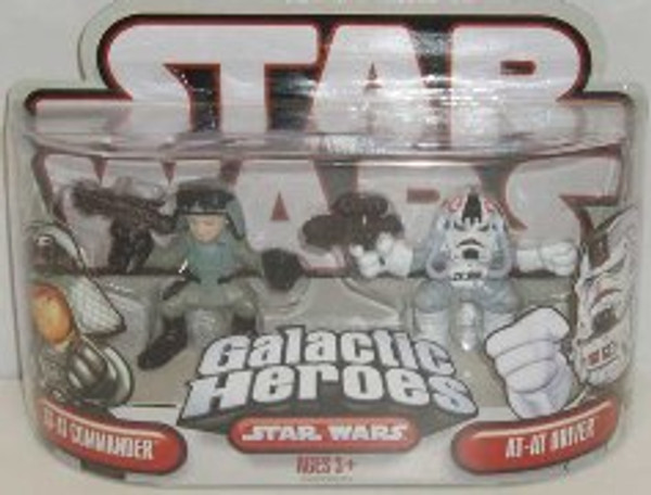 "STAR WARS ""GALACTIC HEROS AT-AT COMMANDER AND AT-AT- DRIVER"""