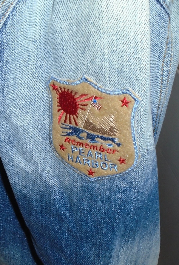 WOLFGANG'S DESIGNS BY DRAGONFLY DENIM JACKET PINK FLOYD MENS LARGE