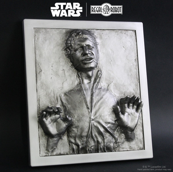 Star Wars Han Solo in Carbonite plaque wall decor