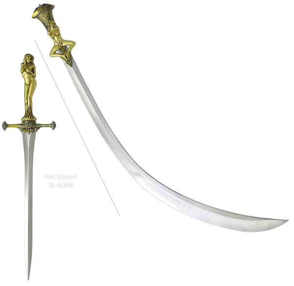 Game of Thrones Daario's Ladies Sword and Dagger Valyrian Steel
