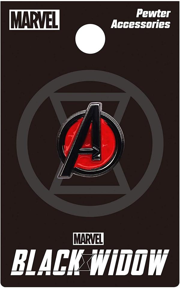 Black Widow Avengers Logo Color Pewter Lapel Pin