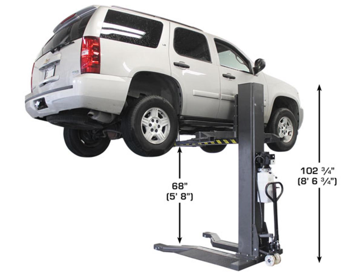 Atlas® PSP-6000 - 6,000 lb  Portable Single Post Lift