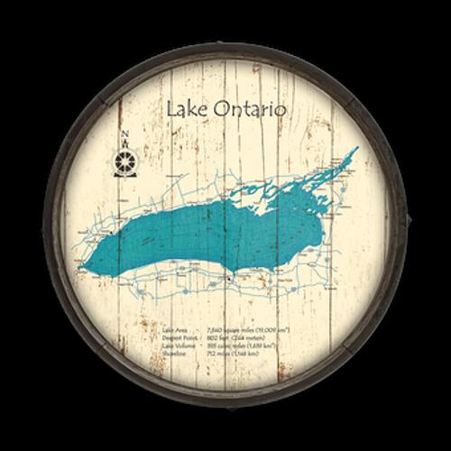 Custom Lake Map Sign