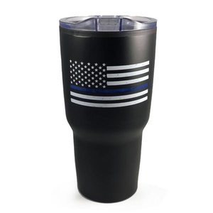 Thin Blue Line Tumbler, 30 Oz