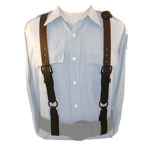 Police Leather Suspenders