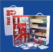 Deluxe First aid cabinet - 4 shelf - stocked