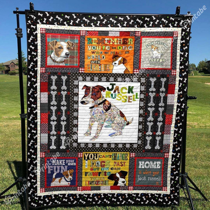 Puppy Dogs Jack Russell Custom Quilt Qf14484