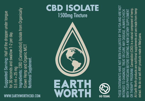 CBD Isolate Tincture 1500mg