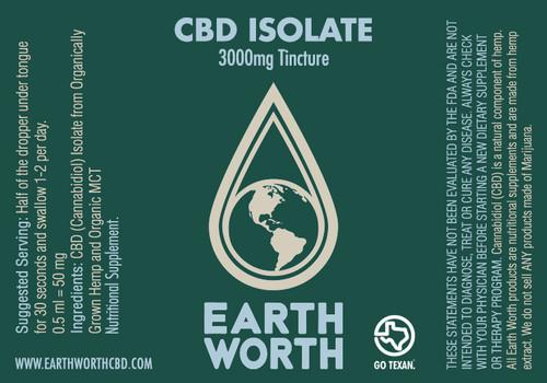 CBD Isolate Tincture 3000mg