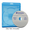 Verbatim Blu-Ray DVD Blue Cases - 98603 - with Disc (not included)