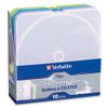 Verbatim CD/DVD Color TRIMpak Cases - 10pk, Assorted Colors - Package