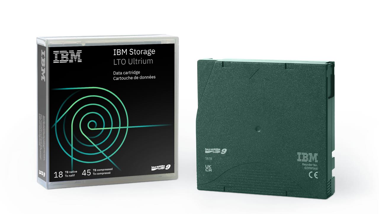 IBM LTO 9 Tape (02XW568). IBM LTO9 Ultrium Tape Data Cartridges
