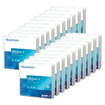 Quantum LTO 7 Tape 20 Pack - 20 Tapes (BaFe) with Cases MR-L7MQN-01-20PK