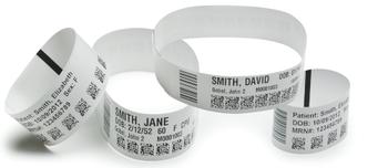 Zebra Technologies 10015355K Z-Band Direct Wristband Ultra Soft Adult 1 x 11 DT 175 Wristbands 6 Cartridge Case