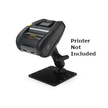 Zebra Handi-Mount compact mounting option with Base Plate for the Zebra ZQ630 and QLn420 mobile printers.
